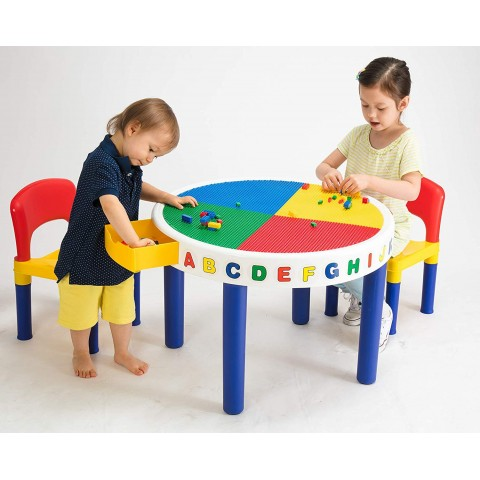 Table Chair Lego Block, Round Table And Chair Set