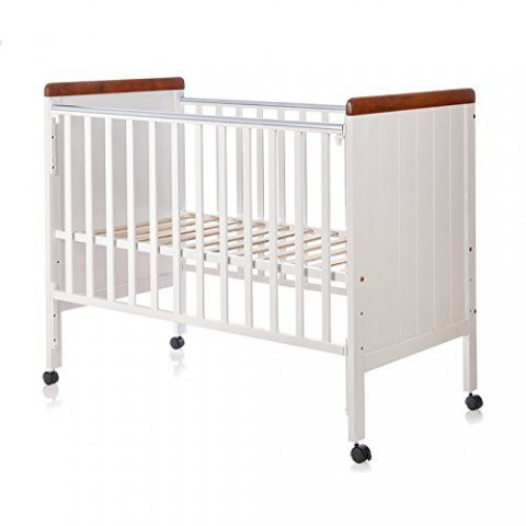 Babycenterindia Howard 500A Cot White And Wooden Color
