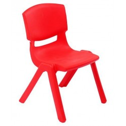 Solid Plastic Baby Chair - Red