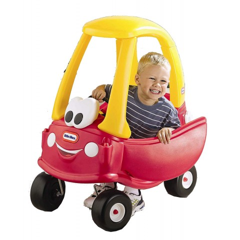 Roll over in Little Tikes Cozy Coupe-Anniversary Edition