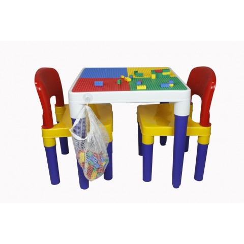 Babycenterindia 2 In 1 Block Table And, Lego Table With Chairs India