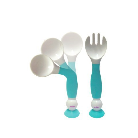 Babycenter India Spoon And Fork Set - Mint Green