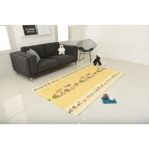 Animal Zoo Play Mat, Front and Back Design, Made in Korea
