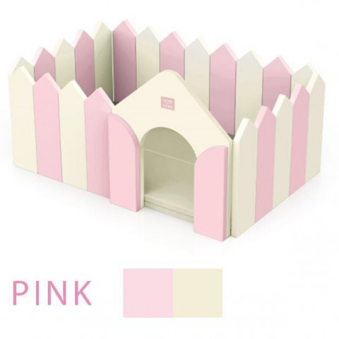 Alzip Fence and Play Mat , Made in South Korea, Pink