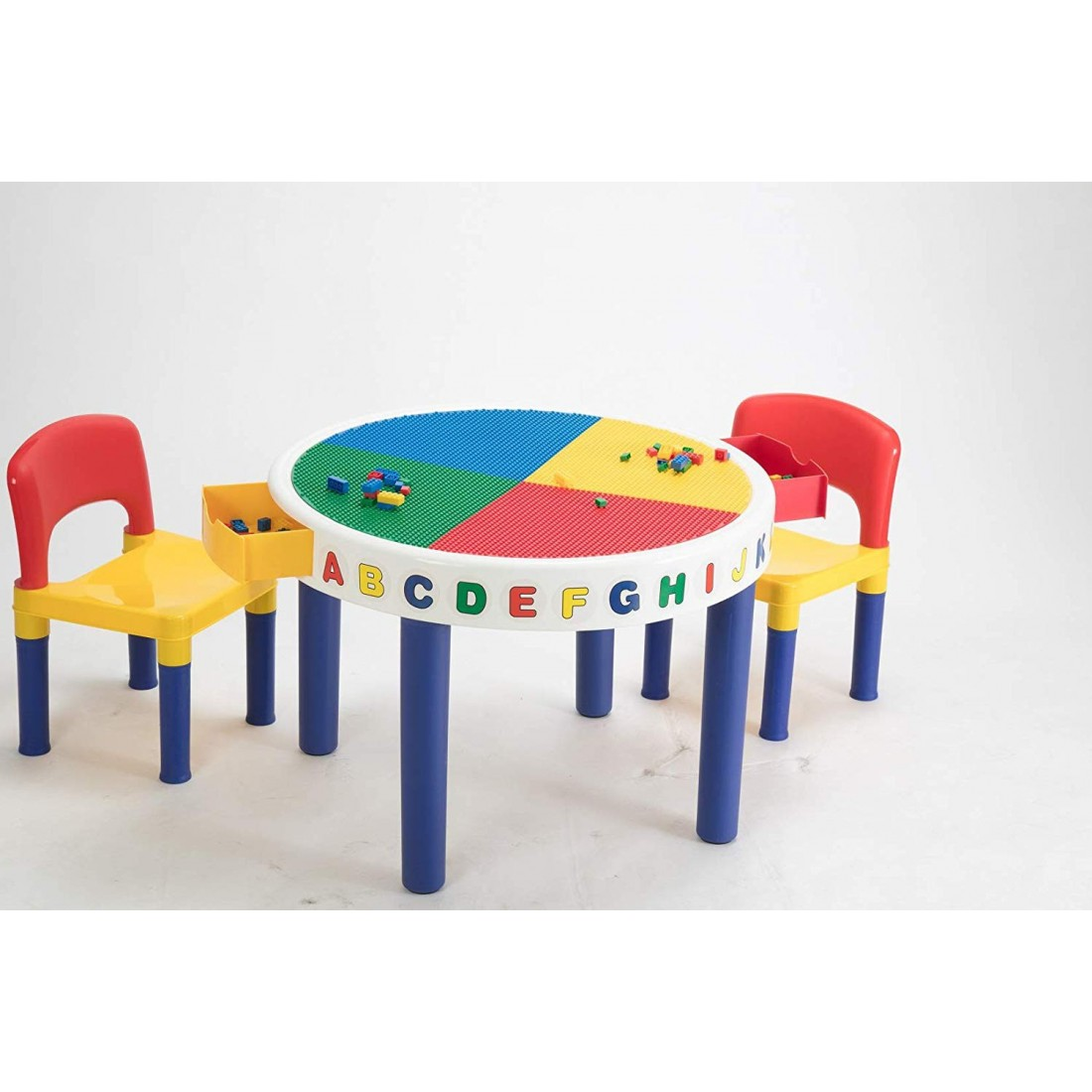 BabyCenterIndia Big Round Table and Chairs with Block Set