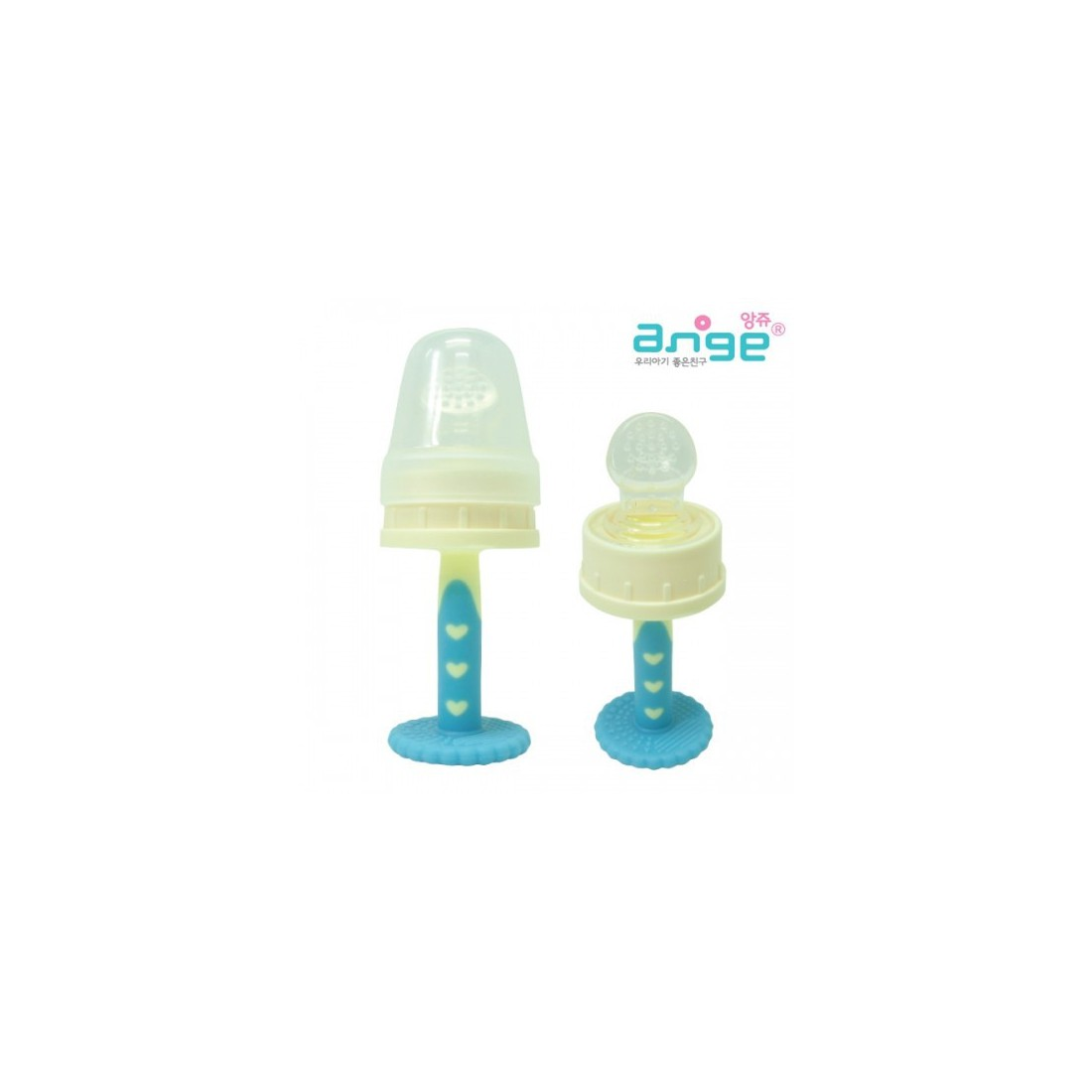 Ange Fruit Feeder Teether Blue Amp Yellow