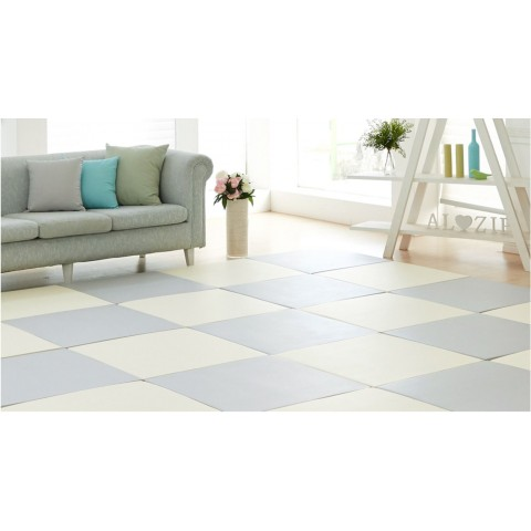 Living floor 4P_(gray+Cream/2pcs each)