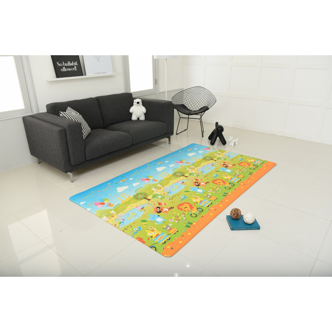 ABCD and Funanimal Play Mat, Front and Back Design, Made in Korea
