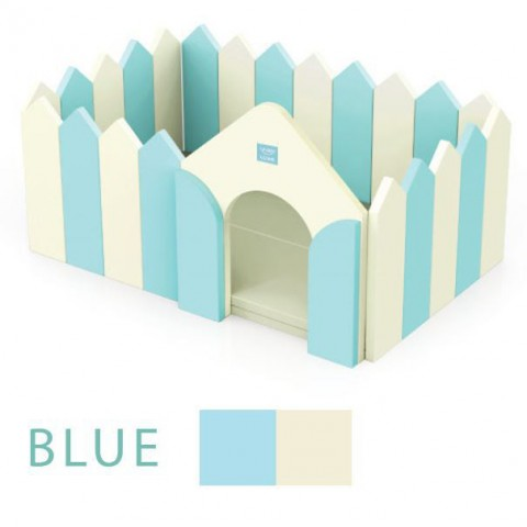 Alzip Fence and Play Mat , Made in South Korea, Blue and Beige Combination