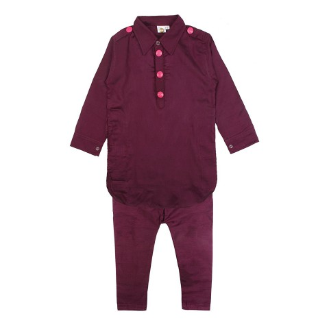A Purple Pathani Suit for Boys