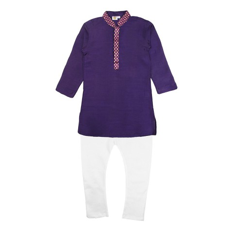 A Blue Kurta & Pyjama Set for Boys